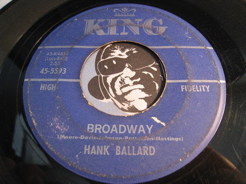 Hank Ballard - Broadway b/w Do You Know How To Twist - King #5593 - Funk - R&B Soul