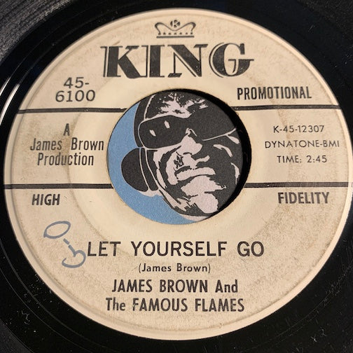 James Brown & Famous Flames - Good Rockin Tonight b/w Let Yourself Go - King #6100 - R&B Soul