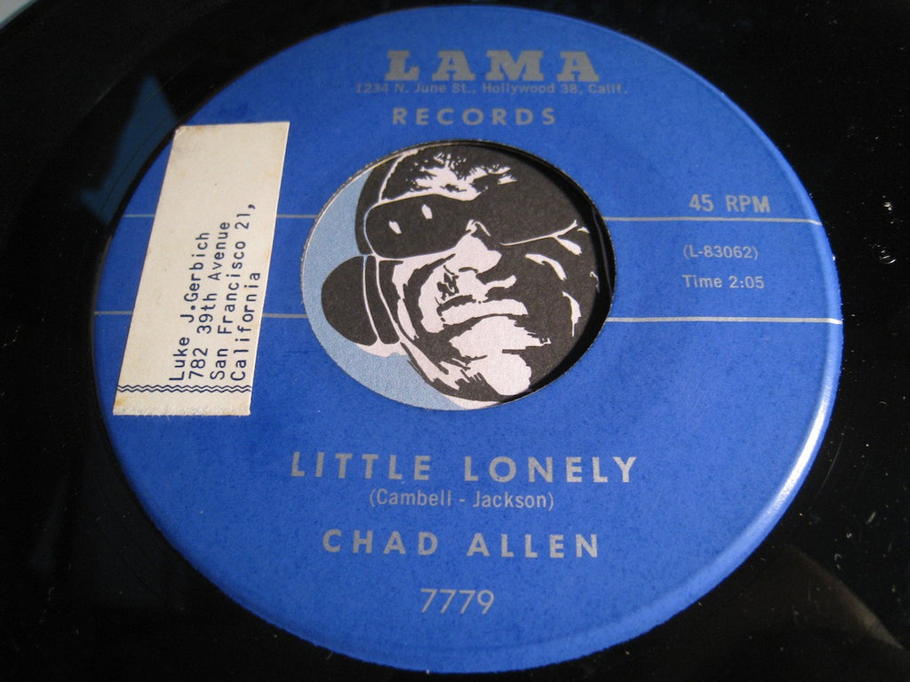 Chad Allen - Little Lonely b/w Domino - Lama #7779 - Teen