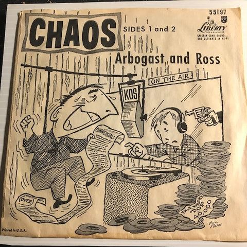 Arbogast and Ross - Chaos pt.1 b/w pt.2 - Liberty #55197 - Novelty