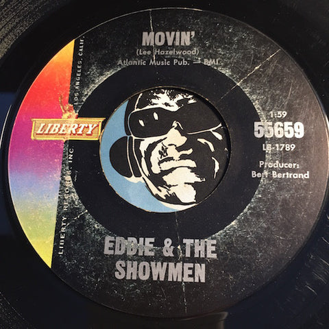 Eddie & Showmen - Movin b/w Mr. Rebel - Liberty #55659 - Surf