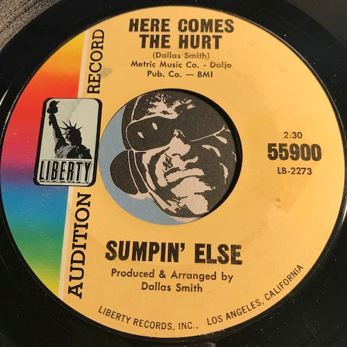 Sumpin Else - Here Comes The Hurt b/w You're Bad - Liberty #55900 - Garage Rock