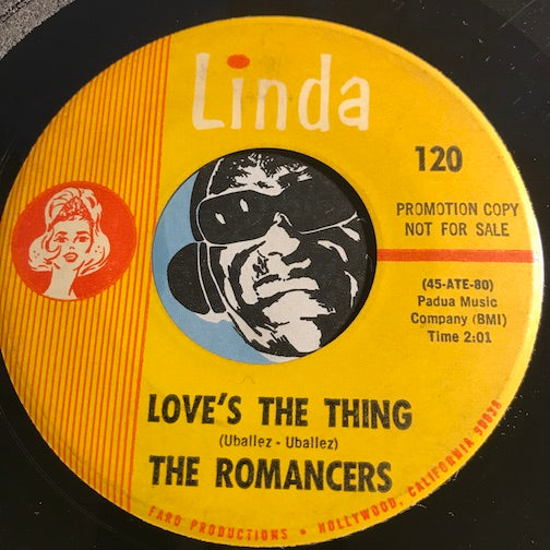Romancers - Love's The Thing b/w Do You Cry - Linda #120 - Garage Rock