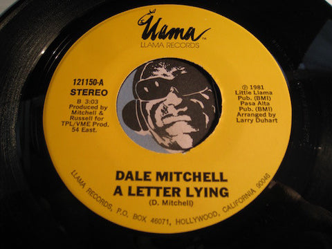 Dale Mitchell - A Letter Lying b/w A Love Song (For You) - Llama #121150 - Modern Soul
