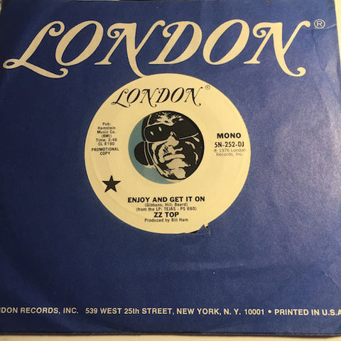 ZZ Top - Enjoy And Get It On b/w same - London #252 - Rock n Roll