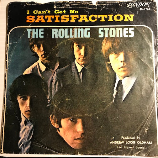 Rolling Stones PICTURE SLEEVE ONLY - I Can't Get No Satisfaction b/w The Under Assistant West Coast Promotion Man - London #9766 - Rock n Roll