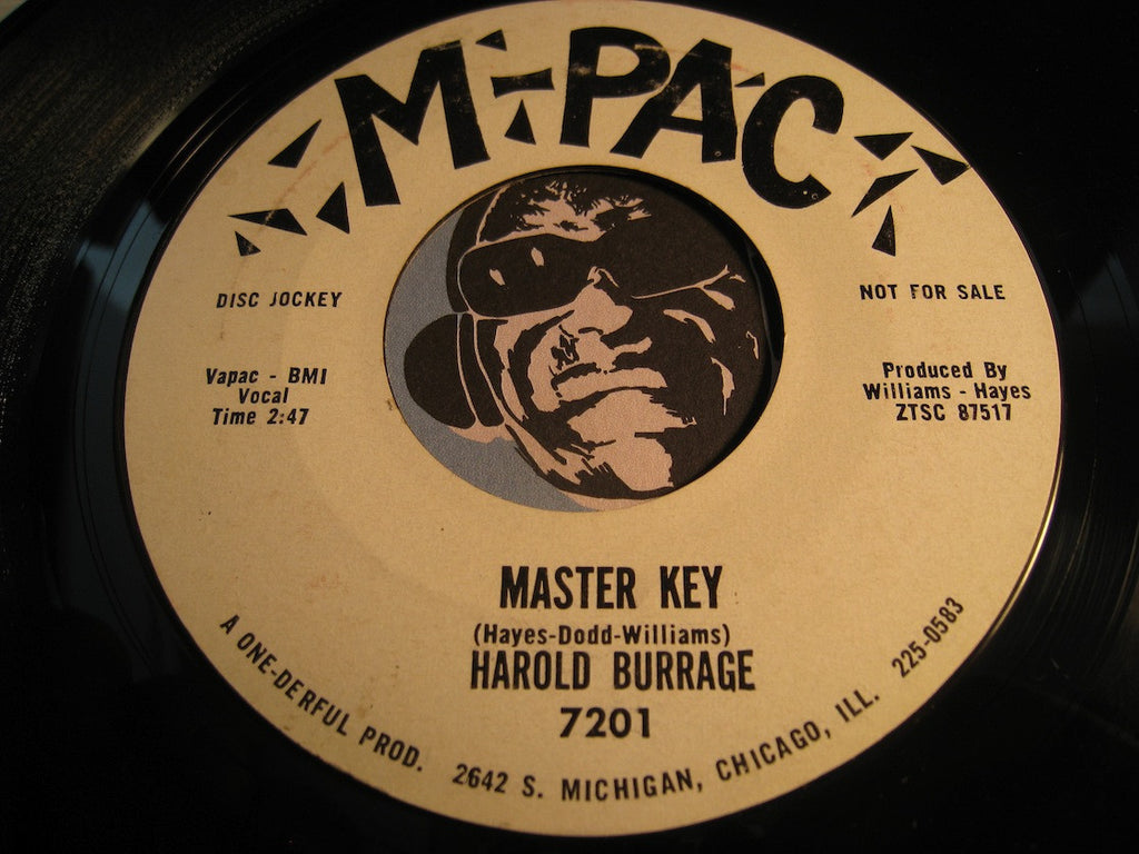 Harold Burrage - Master Key b/w Faith - M-Pac #7201 - Northern Soul