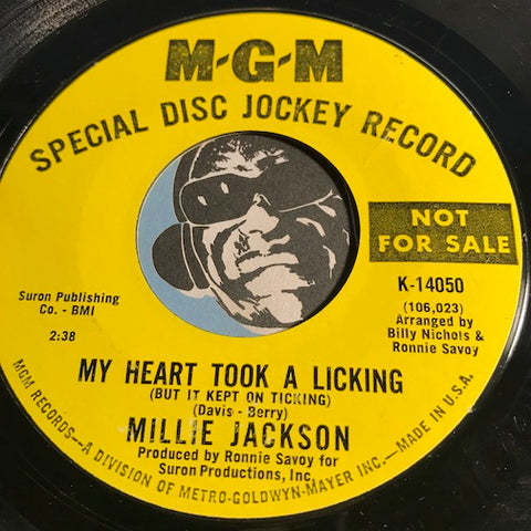Millie Jackson - My Heart Took A Licking b/w A Little Bit Of Something - MGM #14050 - Northern Soul