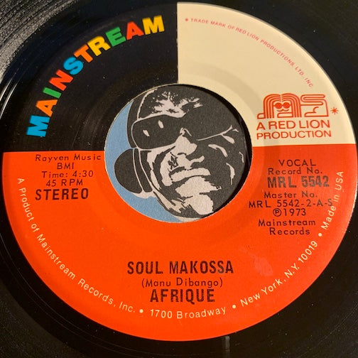 Afrique - Soul Makossa b/w Hot Mud - Mainstream #5542 - Funk