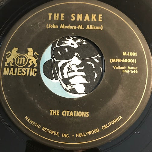 Citations - The Snake b/w Panda Bear - Majestic #1001 - Surf