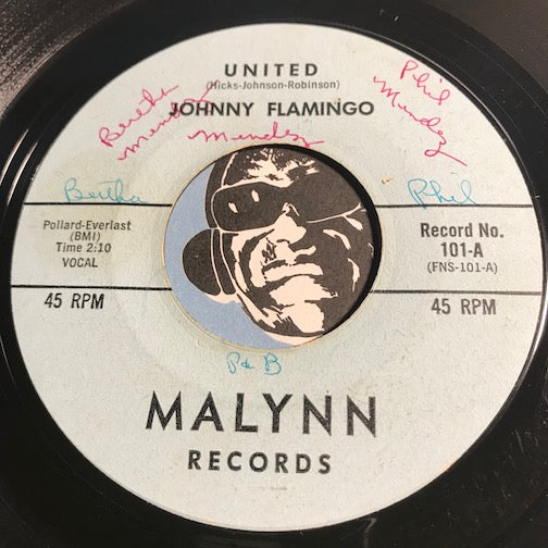 Johnny Flamingo - United b/w I Just Cry - Malynn #101 - Doowop
