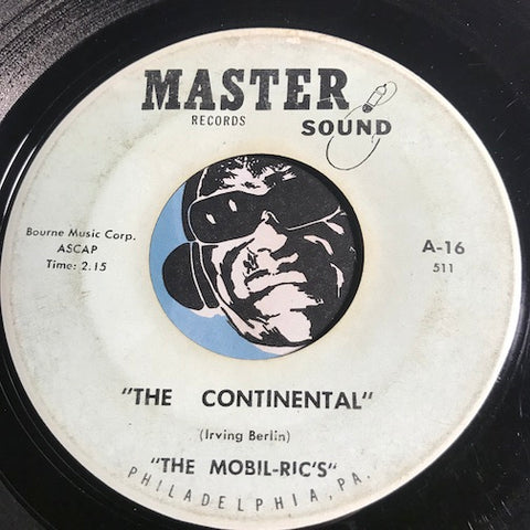 Mobil-Ric's - The Continental b/w You Go To My Head - Master Sound #16 - Rock n Roll