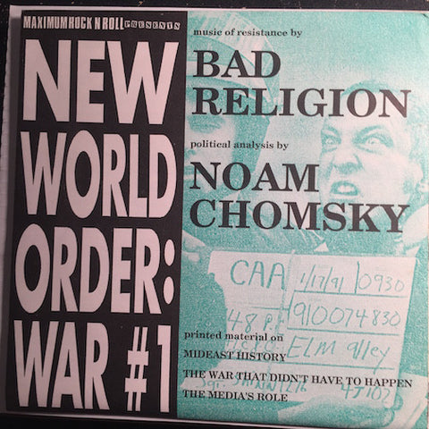 Bad Religion / Noam Chomsky - Heaven Is Falling - Fertile Crescent b/w Political Analysis - Maximumrocknroll #006 - Punk