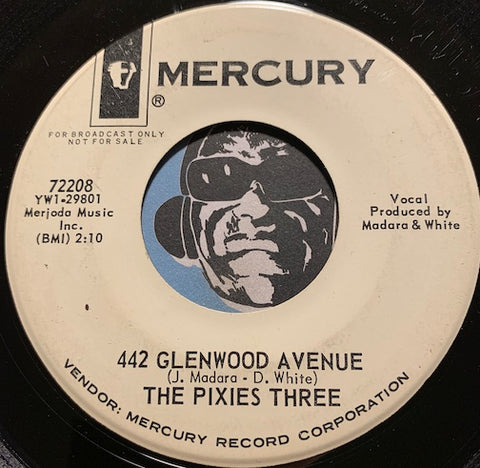 Pixies Three - 442 Glenwood Avenue b/w Cold Cold Winter - Mercury #72208 - Rock n Roll - Girl Group