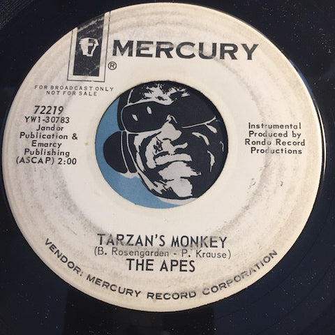 Apes - Tarzan's Monkey b/w Don't Monkey With The Pony - Mercury #72219 - Popcorn Soul
