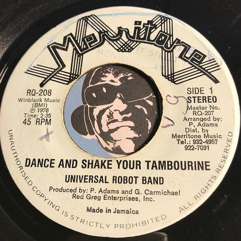 Universal Robot Band - Dance And Shake Your Tambourine b/w same (instrumental) - Merritone #208 - Funk - Funk Disco