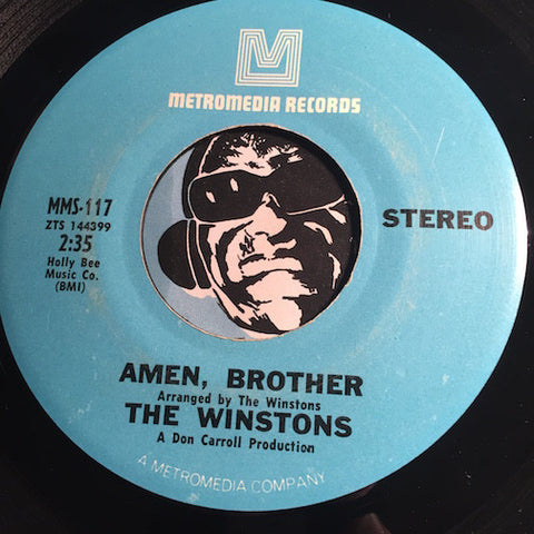 Winstons - Amen Brother b/w Color Him Father - Metromedia #117 - Funk