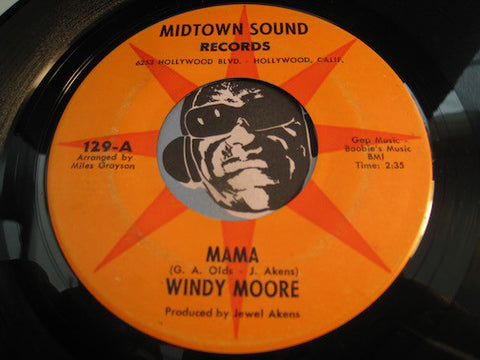 Windy Moore - Mama b/w Helplessly In Love - Midtown #129 - Modern Soul