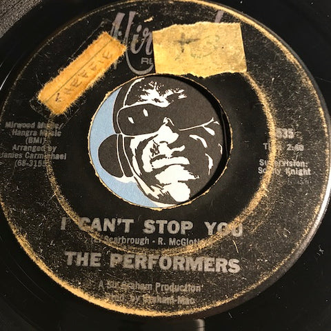 Performers - I Can't Stop You b/w L.A. Stomp - Mirwood #5535 - Northern Soul