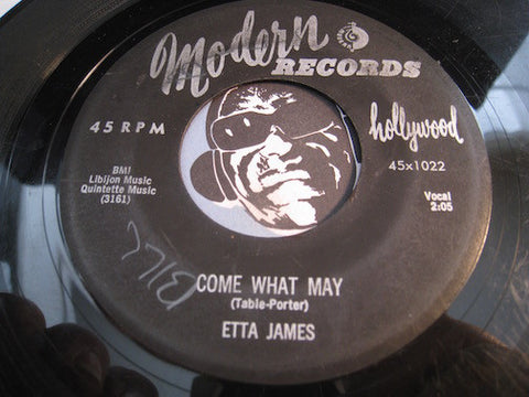 Etta James - Come What May b/w By The Light Of The Silvery Moon - Modern #1022 - R&B Soul