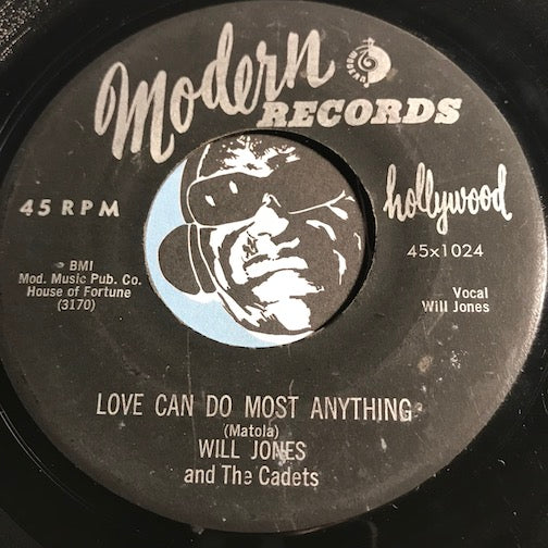 Will Jones & Cadets - Love Can Do Most Anything b/w Hands Across The Table - Modern #1024 - Doowop
