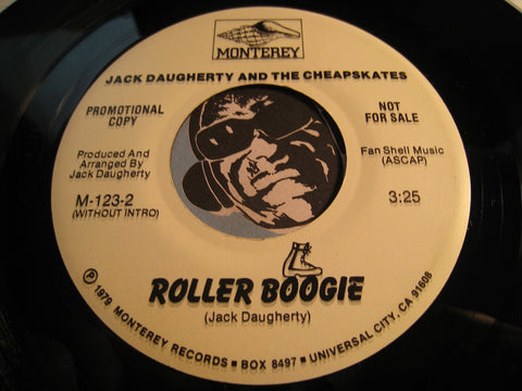 Jack Daugherty & Cheapskates - Roller Boogie (with intro) b/w same (without intro) - Monterey #123 - Funk Disco