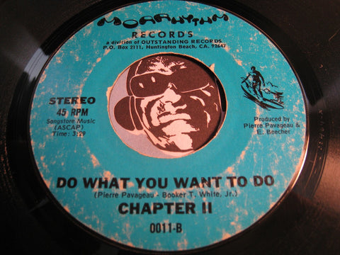 Chapter 2 - Do What You Want To Do b/w Dance Dance Dance - Morrhythm #0011 - Modern Soul