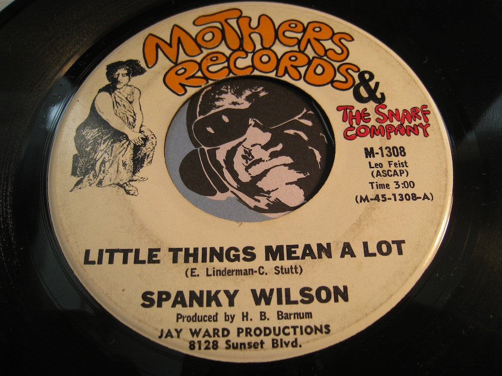 Spanky Wilson - Little Things Mean A Lot b/w If I Could - Mothers Records & Snarf Company #1308