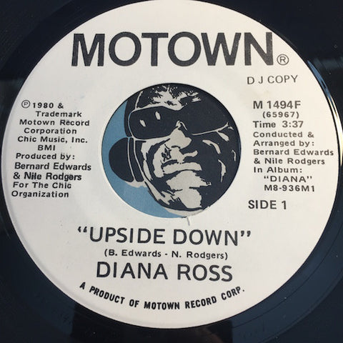 Diana Ross - Upside Down b/w same - Motown #1494 - Funk Disco - Motown