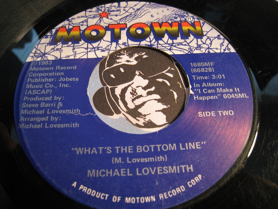 Michael Lovesmith - What's The Bottom Line b/w Baby I Will - Motown #1685 - Modern Soul