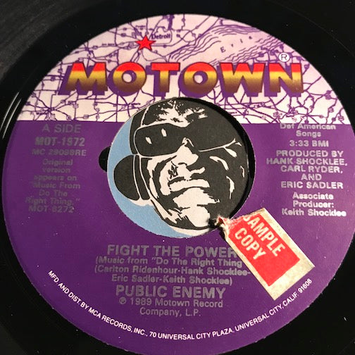 Public Enemy - Fight The Power b/w Fight The Power (Flavor Flav Meets Spike Lee) - Motown #1972 - Rap