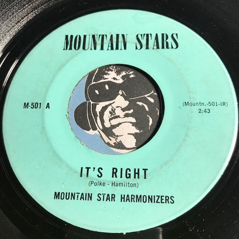 Mountain Stars - It's Right b/w I'm Leaning On Jesus -Mountain Stars #501 - Gospel Soul