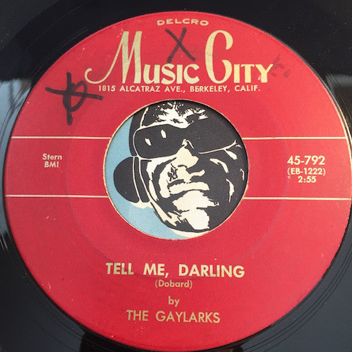 Gaylarks / Rovers - Tell Me Darling b/w Whole Lot Of Love - Music City #792 - Doowop