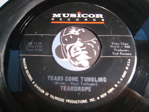 Teardrops - Tears Come Tumbling b/w You Won't Be There - Musicor #1139 - Northern Soul - Girl Group