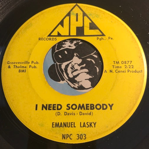 Emanuel Lasky - I Need Somebody b/w Tomorrow - NPC #303 - Northern Soul