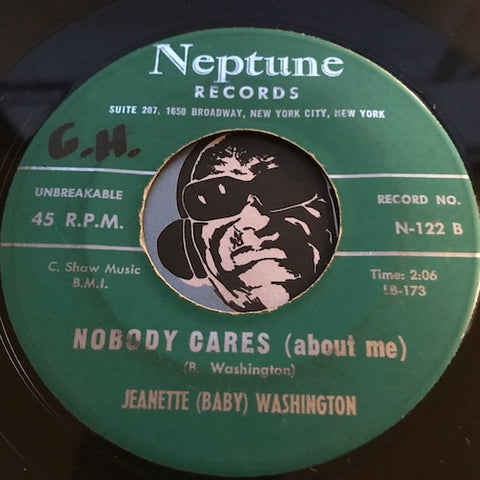Jeanette Baby Washington - Money's Funny b/w Nobody Cares (About Me) - Neptune #122 - R&B Soul