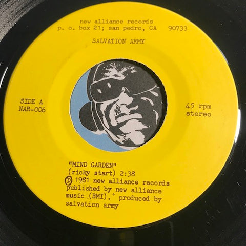 Salvation Army - Mind Garden b/w Happen Happened (Doris Day) - New Alliance #006 - Punk
