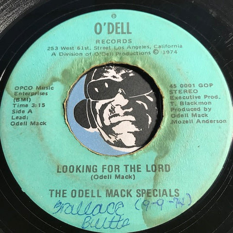 Odell Mack Specials - Looking For The Lord b/w This Little Light Of Mine - O'Dell #0001 - Gospel Soul