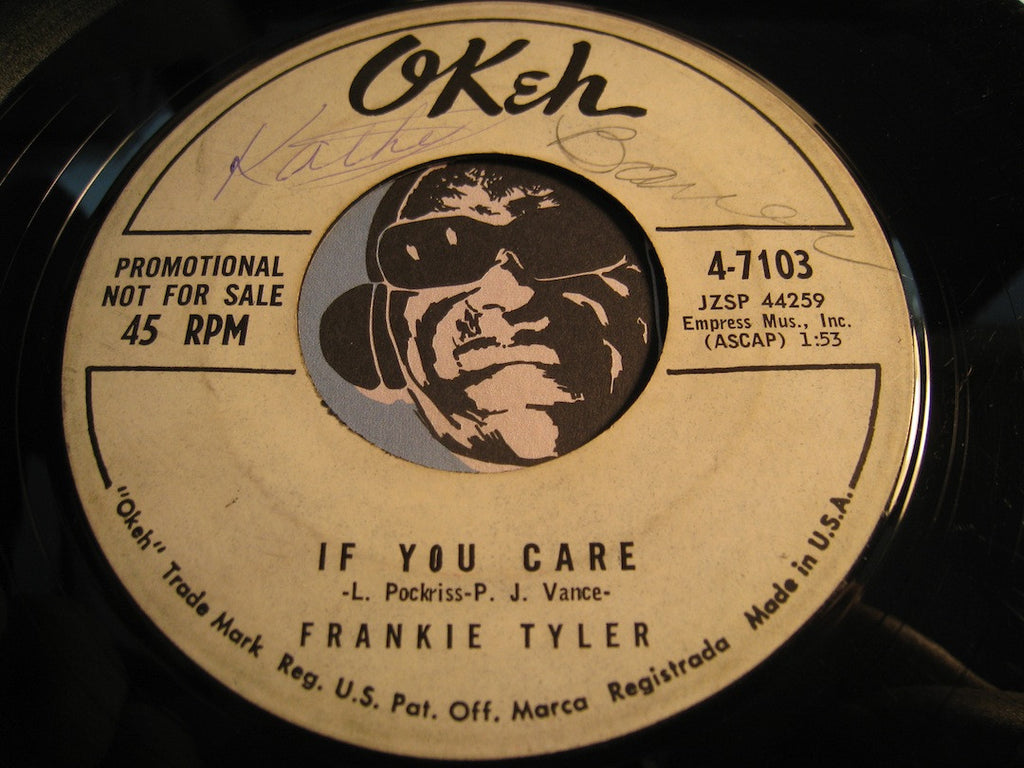 Frankie Tyler aka Frankie Valli - If You Care b/w I Go Ape - Okeh #7103 - Teen - Rock n Roll