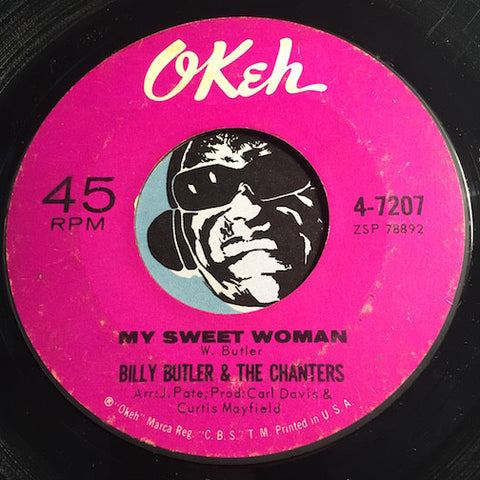 Billy Butler & Chanters - My Sweet Woman b/w Nevertheless - Okeh #7207 - Northern Soul