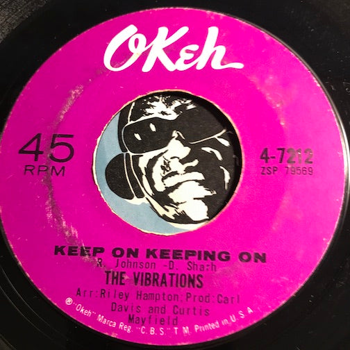 Vibrations - Keep On Keeping On b/w Hello Happiness - Okeh #7212 - Northern Soul