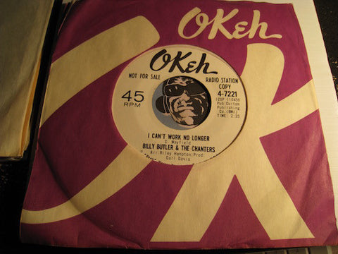 Billy Butler & Chanters - I Can't Work No Longer b/w Tomorrow Is Another Day - Okeh #7221 - Northern Soul