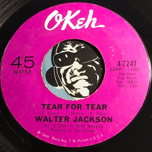 Walter Jackson - Tear For Tear b/w It's An Uphill Climb To The Bottom - Okeh #7247 - Northern Soul