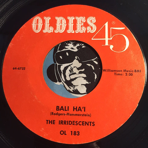 Irridescents - Bali Ha'i b/w Swamp Surfer - Oldies 45 #183 - Surf