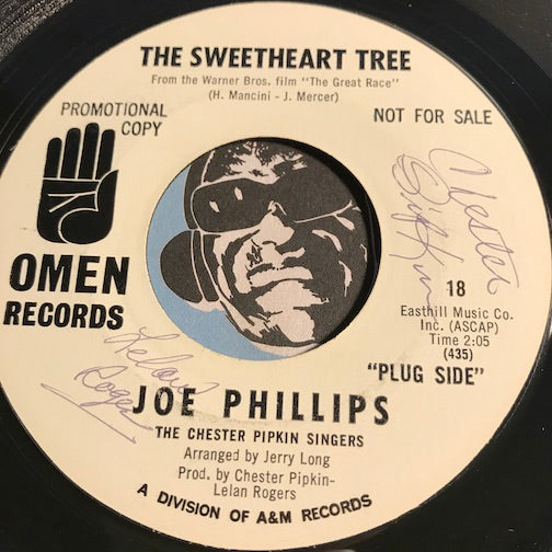 Joe Phillips - The Sweetheart Tree b/w Without You - Omen #18 - Northern Soul