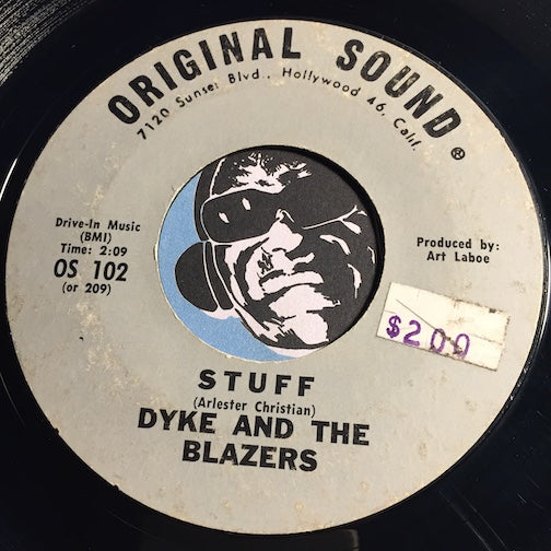 Dyke & Blazers - Stuff b/w The Wobble - Original Sound #102 - Funk