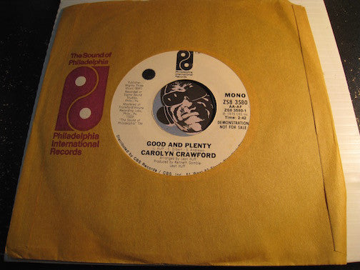 Carolyn Crawford - Good And Plenty (stereo) b/w same (mono) - PIR #3580 - Funk