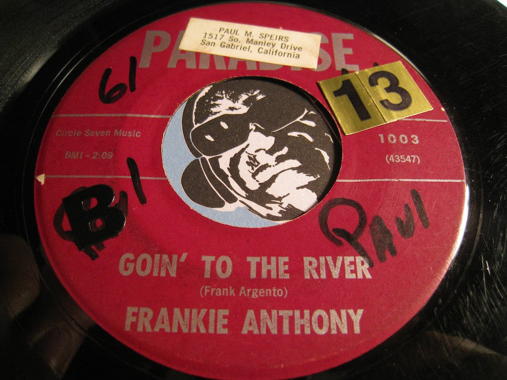 Frankie Anthony - Brenda b/w Goin To The River - Paradise #1003 - R&B - Teen