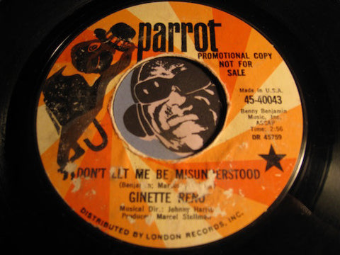 Ginette Reno - Don't Let Me Be Misunderstood b/w Everything That I Am - Parrot #40043 - Jazz Funk
