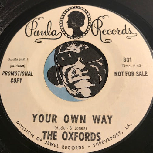 Oxfords - Your Own Way b/w Come On Back To Beer - Paula #331 - Psych Rock - Rock n Roll